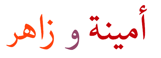 Amina y Zahir, escrito en arabe