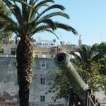 Cañón en los Jardines de la Mendoubia de Tanger